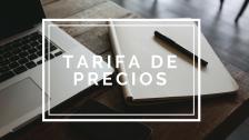 TARIFA DE PRECIOS